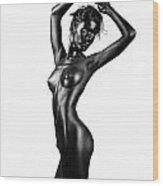 Boldness In Nude Wood Print by Dan Comaniciu