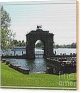 Boldt Castle Entry Arch Wood Print by Rose Santuci-Sofranko