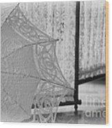 Boldt Castle Umbrella Wood Print