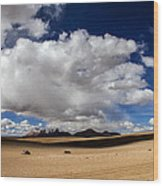 Bolivia Cloud Valley Wood Print