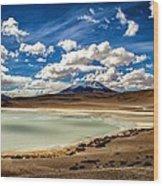 Bolivia Lagoon Clouds Framed Wood Print