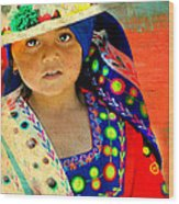 Bolivian Child Wood Print