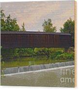 Bollinger Cover Bridge Wood Print