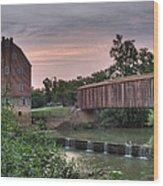 Burfordville Mill Wood Print