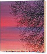 Bolton Sunset Wood Print