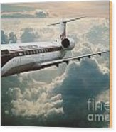 Bombardier-canadair Regional Jet Crj Wood Print