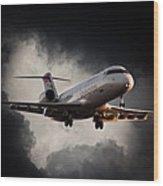 Bombardier Landing Wood Print