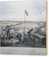 Bombardment Of Fort Fisher Wood Print