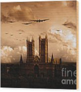 Bomber Country  Wood Print