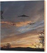 Bombers Pass By  Wood Print