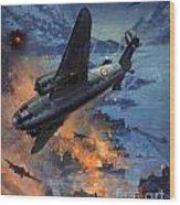 Bombing Scene Artist C E Turner  Wood Print