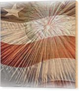 Bombs Bursting In Air Wood Print by Heidi Smith