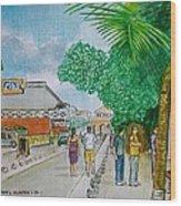 Bonaire Street Wood Print