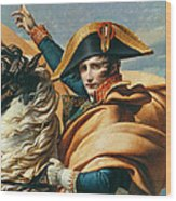 Bonaparte Crossing The Alps Oil On Canvas Detail Of 18491 Wood Print
