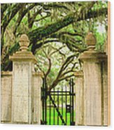 Bonaventure Gate Savannah Ga Wood Print