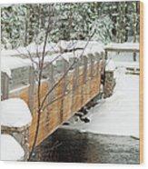 Bond Falls Bridge Wood Print