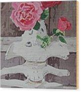 Bones And Roses Wood Print