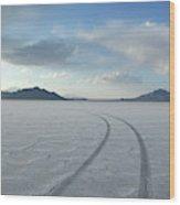Bonneville Salt Flats, Salt Lake City Wood Print