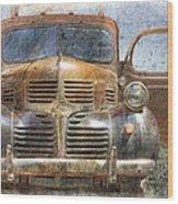 Bonnie And Clyde Wood Print by Debra and Dave Vanderlaan