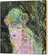 Bonnie Blue Wood Print
