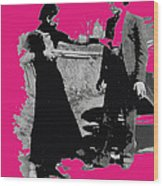 Bonnie Parker Aiming Rifle At Clyde Barrow March 1933-2008 Wood Print