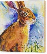 Bonny Bunny Wood Print