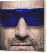 Bono Of U2 Wood Print