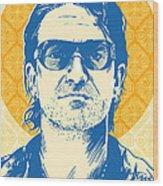 Bono Pop Art Wood Print by Jim Zahniser