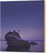 Bonsai Island Wood Print