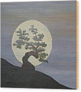 Bonzai Moon  Wood Print