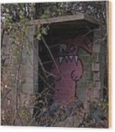 Boogie Monster Graffiti Wood Print