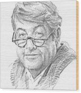 Book Character 14 Pencil Portrait Wood Print
