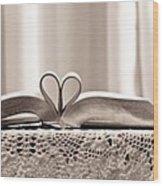 Book Heart Series 1 Wood Print