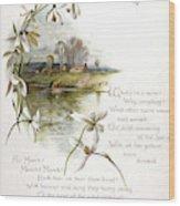 Book Illustration -- April Wood Print