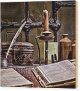 Book Keeper Wood Print