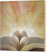 Book Love Wood Print by Les Cunliffe