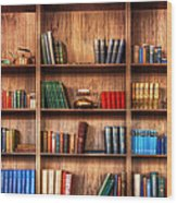 Book Shelf Wood Print