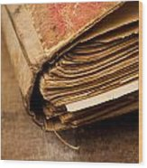 Book Wood Print
