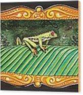 Puravida Frog Wood Print