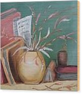 Books And Notes Wood Print