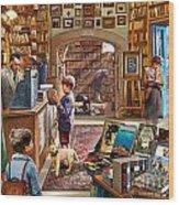 Bookshop Wood Print