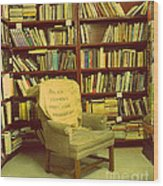 Bookstore Nook Wood Print by Lorraine Heath