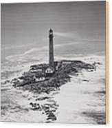 Boon Island Light Tower Circa 1950 Wood Print by Aged Pixel