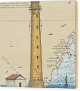 Boon Island Lighthouse Me Chart Art Cathy Peek Wood Print