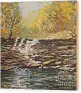 Boone County In Fall Wood Print by Terri Maddin-Miller