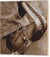Boot N Stirup Wood Print