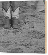 Boots And Horse Hooves Wood Print
