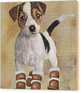 Boots For Baxter Wood Print