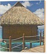 Bora Bora Bungalow Wood Print