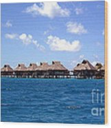 Bora Bora Lagoon Wood Print
